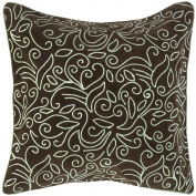 Surya PART66-1818D 18 in. x 18 in. Down Filled Decorative Pillows - Espresso
