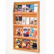 Wooden Mallet LD49-24LO Slope 24 Pocket Literature Display in Light Oak - 4Hx6W