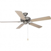 Maxim Lighting 89905SN Basic-Max 52 Ceiling Fan Silver/Maple Blades - Satin Nickel