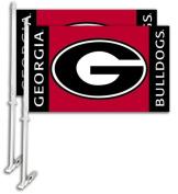 Bsi Products 97007 Car Flag W/Wall Brackett - Georgia Bulldogs