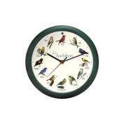 Mark Feldstein and Associates Audubon Singing Bird Clock 33cm Green, AUD13