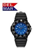 Del Mar 50247 Mens Dive 200 Blue Dial PU Watch