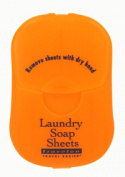 Travelon 02096-60 Laundry Soap Sheets- Orange