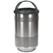 Witt Industries SC55-01-SS-HT Standard unit with dome top lid- plastic liner- special paint