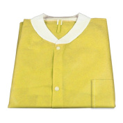 Dynarex 2045 X - Large Disposable Lab Jacket with Three Pockets - Yellow - 30/Case