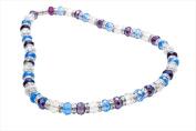 Alexander Kalifano WHITE-NGG-09 White Tag Gorgeous Glass Necklaces - Multi-Coloured