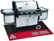Fanmats 12109 COL - 70cm . x110cm . - Ohio State University Grill Mat