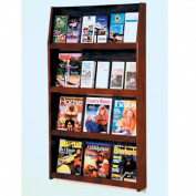 Wooden Mallet LD49-24MH Slope 24 Pocket Literature Display in Mahogany - 4Hx6W