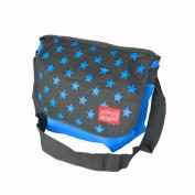 Blancho Bedding MB-B881-BLUE Star Print - Blue Multi-Purposes Messenger Bag / Shoulder Bag