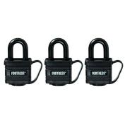 Master Lock 1804TRI 2.5cm - 1.4cm Black Weatherproof Padlocks 3 Count