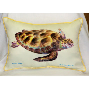 Betsy Drake HJ044 Green Sea Turtle Art Only Pillow 15x22