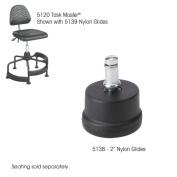 Safco 5138 Black TaskMaster 2 Nylon Glides