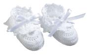 Lillian Rose 24BO840 White Crocheted Booties