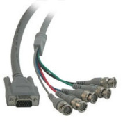 Cables To Go 07573 10ft PREMIUM HD15M to 5-BNC MALE VIDEO CABLE