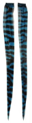 Costumes For All Occasions SA10248 Hair Extension Turquoise Zebra