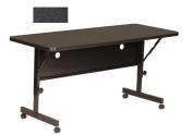 Correll FT2448-BLACK GRANITE Deluxe Flip Top Table with High-Pressure Top - Black Granite