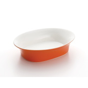 Rachael Ray 58359 Round & Square 35.6cm Oval Serving Bowl Orange