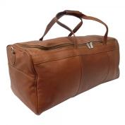 Piel Leather 9712 TravelerS Select Large Duffel Bag- Saddle