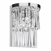 Dainolite JOS-7-2W 2-Light Crystal Wall Sconce