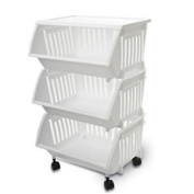 Home Products 0737BK-EP.04 Three Tier Mobile Cart Black