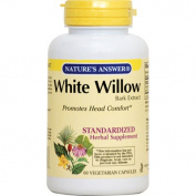 Natures Answer Standardised Extract Supplement White Willow Bark 60 vegetarian capsules 215694