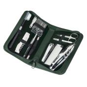 Royce Leather 506-TAN-8 Executive Travel & Grooming Kit - Tan