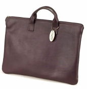 Claire Chase 623E-cafe Zippered Folio with Handle - Cafe
