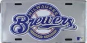 LP-1269 Milwaukee Brewers MLB Chrome Licence Plate- 50048