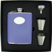 Visol VSET38-1121 Blossom Lavender Leather 6oz Deluxe Flask Gift Set