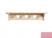 Little Colorado 1234SPHT Heart Peg Shelf in Soft Pink