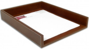 Dacasso A3201 Rustic Leather Front-Load Letter Tray
