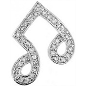 Doma Jewellery DJS02949 Sterling Silver (Rhodium Plated) Pendant with CZ