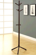 Monarch Specialties COAT RACK - 180cm H / CAPPUCCINO WOOD CONTEMPORARY STYLE