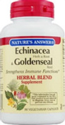 Natures Answer Echinacea Herb/Root and Goldenseal Root 90 vegetarian capsules 215734