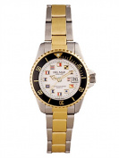 Del Mar 50122 Womens Classic Nautical Flags Two Tone Watch