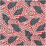 Liberty Mountain 518092 Patriotic Bandana Tossed American Flag