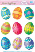 Easter Egg Clings Party Accessory (1 count)