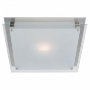 Access Lighting 50033-BS-FST Vision 1 Light Wall Fixture or Flush-Mount - Brushed Steel