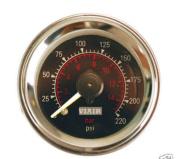 VIAIR 90080 5.1cm . Dual Needle Air Gauge - Black Face
