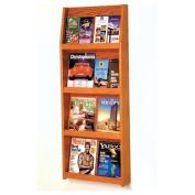 Wooden Mallet LD49-16LO Slope 16 Pocket Literature Display in Light Oak - 4Hx4W