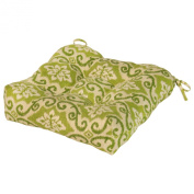 Greendale Home Fashions OC4800-SHOREHAM 20 in. Outdoor Chair Cushion Green Ikat