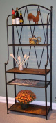 4D Concepts 601512 Baker's Rack with Slate Top - Metal/Slate