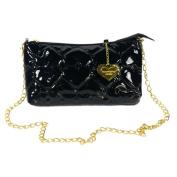 Blancho Bedding WS190-BLACK Laura Favor Fashion Black Love Leatherette Satchel Bag Handbag Purse Shoulder Bag