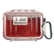 Pelican 330491 1010 Micro Case - Red-Clear