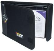 Roadpro LB-002BK Logbook Cover 2 Pocket with Slider Black