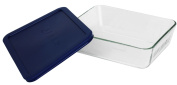 World Kitchen 6 Cup Storage Plus Rectangle Dish With Plastic Cover 6017396 - Pack of 4