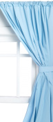 Carnation Home Fashions WC-01 36 in. x 45 in. 5 Gauge Vinyl Window Curtains - Light Blue