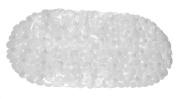 Carnation Home Fashions TM-ROC/26 14 in. x 27 in. Pebbles Vinyl Bath Tub Mat - Super Clear