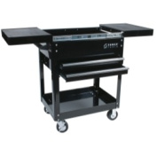 Sunex SUN8035 Compact Slide Top Utility Cart - Black