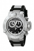 Invicta 5511 Mens Subaqua Noma lll Two Eye Chronograph in Stainless Steel With a Black Dial on a Black Rubber Strap